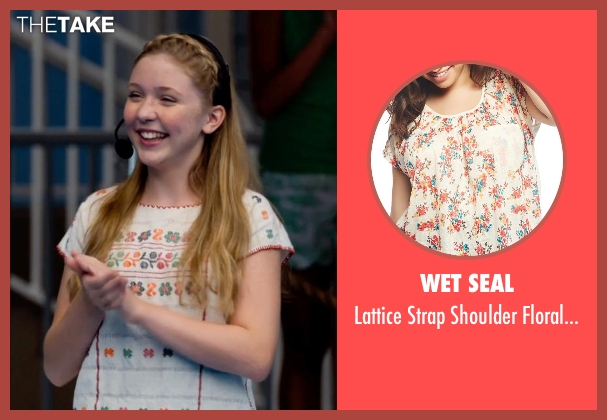 Wet Seal tee from Dolphin Tale 2 seen with Cozi Zuehlsdorff (Hazel Haskett)