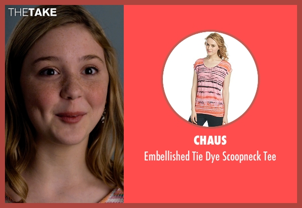 Chaus tee from Dolphin Tale 2 seen with Cozi Zuehlsdorff (Hazel Haskett)