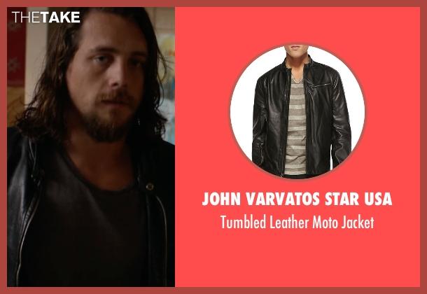 John Varvatos Star USA black jacket from Animal Kingdom seen with Craig Cody (Ben Robson)