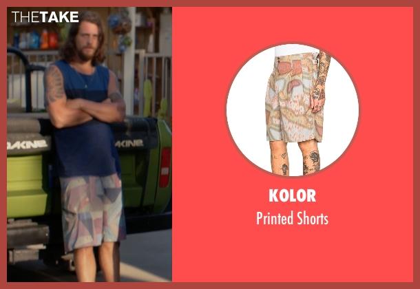 Kolor green shorts from Animal Kingdom seen with Craig Cody (Ben Robson)