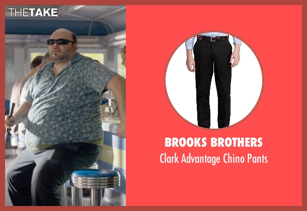 Brooks Brothers black pants from Ted 2 seen with Craig Ricci Shaynak (Fat Blind Guy)