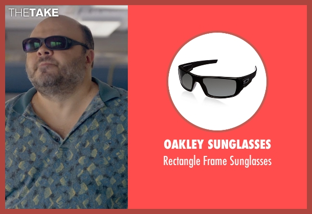 Oakley Sunglasses black sunglasses from Ted 2 seen with Craig Ricci Shaynak (Fat Blind Guy)