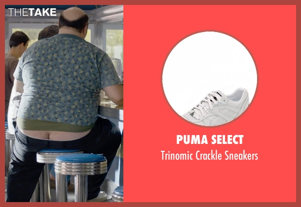 Puma Select white sneakers from Ted 2 seen with Craig Ricci Shaynak (Fat Blind Guy)