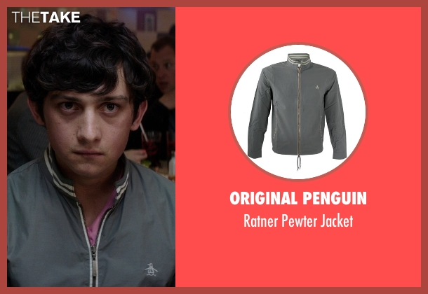 Original Penguin gray jacket from Neighbors seen with Craig Roberts (Assjuice)