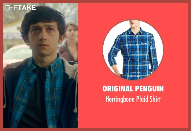 Original Penguin blue shirt from The Fundamentals of Caring seen with Craig Roberts (Trevor)