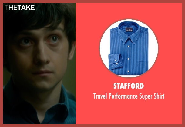 Stafford blue shirt from The Fundamentals of Caring seen with Craig Roberts (Trevor)