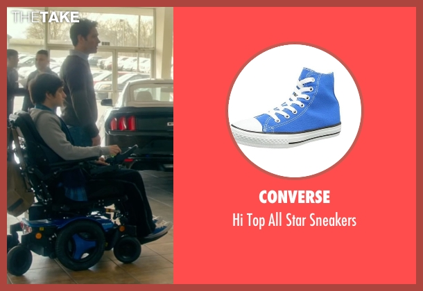 Converse blue sneakers from The Fundamentals of Caring seen with Craig Roberts (Trevor)