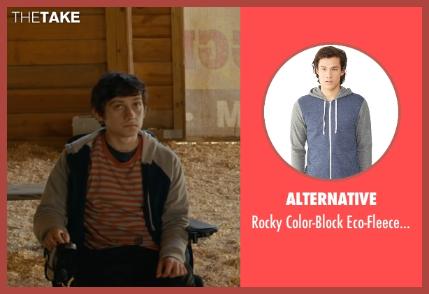 Alternative gray hoodie from The Fundamentals of Caring seen with Craig Roberts (Trevor)