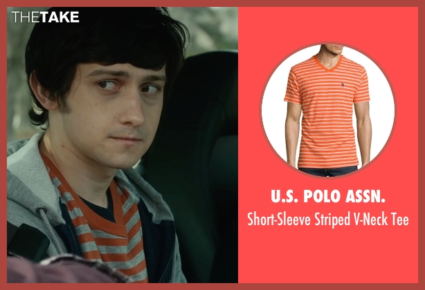 Polo Ralph Lauren orange t-shirt from The Fundamentals of Caring seen with Craig Roberts (Trevor)