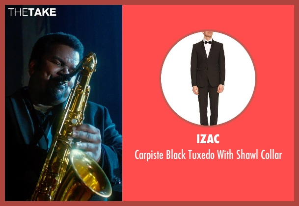 Izac black collar from Get On Up seen with Craig Robinson (Maceo Parker)
