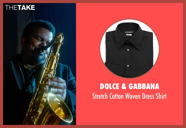 Dolce & Gabbana black shirt from Get On Up seen with Craig Robinson (Maceo Parker)