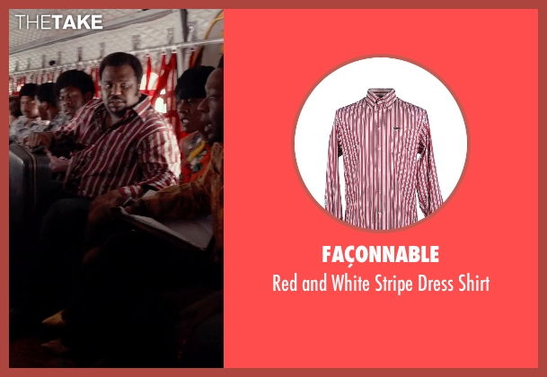 Façonnable red shirt from Get On Up seen with Craig Robinson (Maceo Parker)
