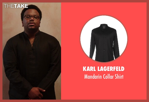 Karl Lagerfeld black shirt from Hot Tub Time Machine 2 seen with Craig Robinson (Nick)