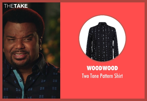 Woodwood blue shirt from Hot Tub Time Machine 2 seen with Craig Robinson (Nick)