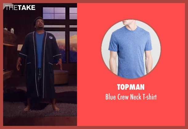 Topman blue t-shirt from Hot Tub Time Machine 2 seen with Craig Robinson (Nick)