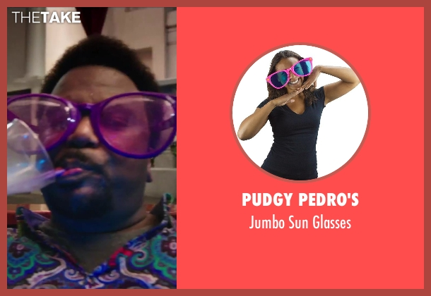 Pudgy Pedro's glasses from Hot Tub Time Machine 2 seen with Craig Robinson (Nick)