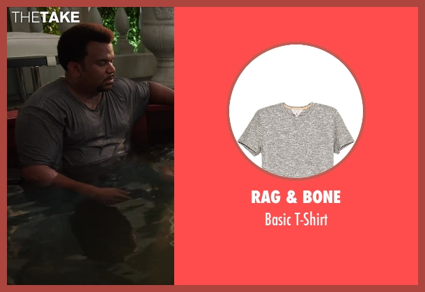 Rag & Bone gray t-shirt from Hot Tub Time Machine 2 seen with Craig Robinson (Nick)
