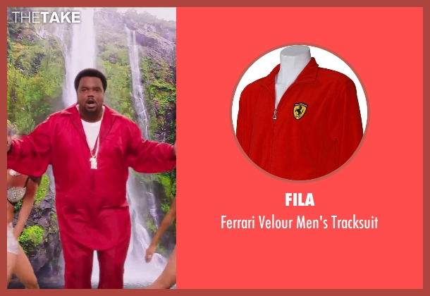Fila red tracksuit from Hot Tub Time Machine 2 seen with Craig Robinson (Nick)