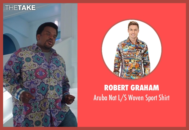 Robert Graham shirt from Hot Tub Time Machine 2 seen with Craig Robinson (Nick)