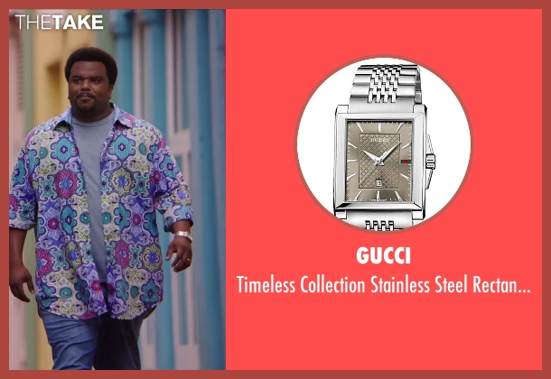Gucci silver watch from Hot Tub Time Machine 2 seen with Craig Robinson (Nick)