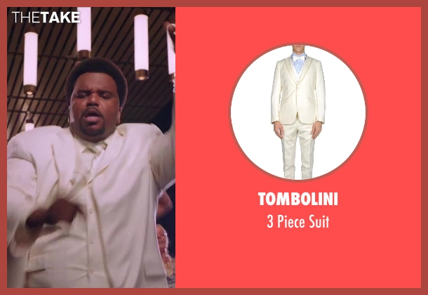Tombolini white suit from Hot Tub Time Machine 2 seen with Craig Robinson (Nick)