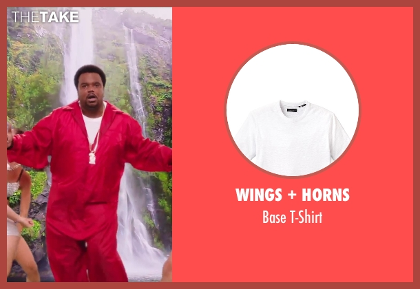 Wings + Horns white t-shirt from Hot Tub Time Machine 2 seen with Craig Robinson (Nick)