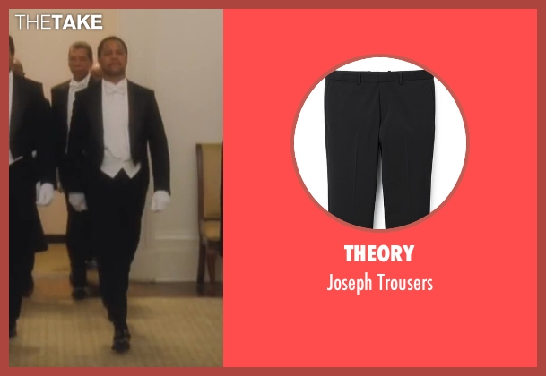 Theory black trousers from Lee Daniels' The Butler seen with Cuba Gooding Jr. (Carter Wilson)
