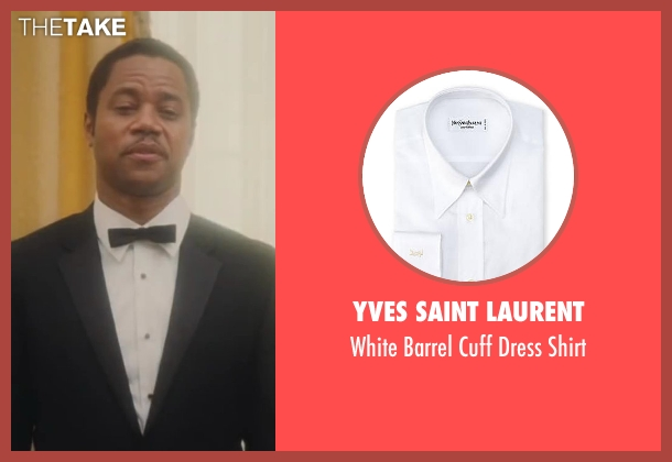 Yves Saint Laurent white shirt from Lee Daniels' The Butler seen with Cuba Gooding Jr. (Carter Wilson)