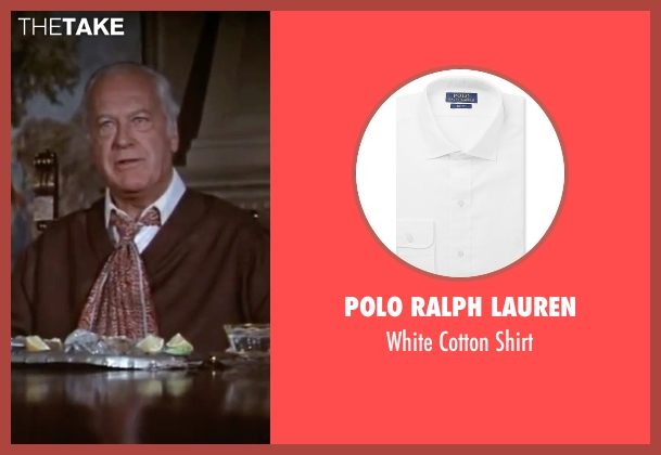 Polo Ralph Lauren white shirt from The Spy Who Loved Me seen with Curd Jürgens (Karl Stromberg)