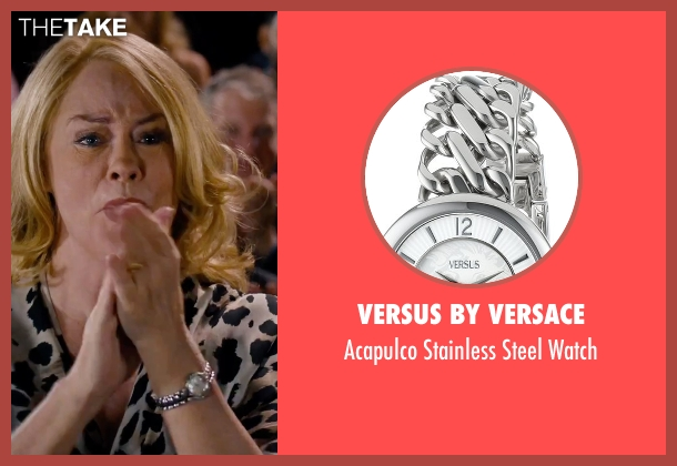 Versus by Versace silver watch from She's Funny That Way seen with Cybill Shepherd (Nettie Finkelstein)