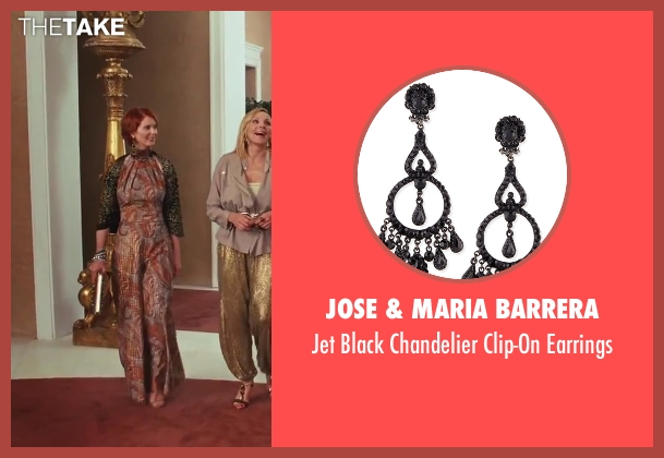 Jose & Maria Barrera black earrings from Sex and the City 2 seen with Cynthia Nixon (Miranda Hobbes)