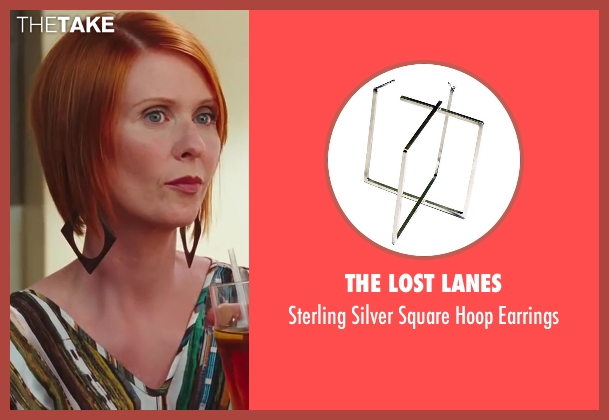 The Lost Lanes black earrings from Sex and the City 2 seen with Cynthia Nixon (Miranda Hobbes)