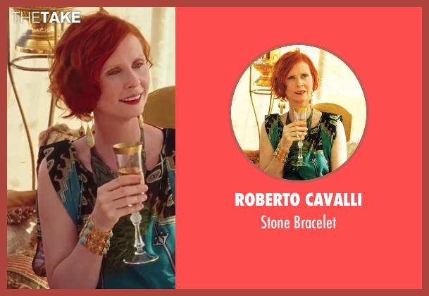 Roberto Cavalli blue bracelet from Sex and the City 2 seen with Cynthia Nixon (Miranda Hobbes)