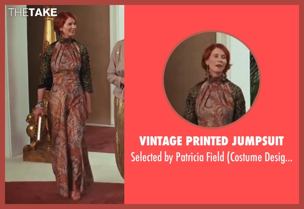 Vintage Printed Jumpsuit brown field from Sex and the City 2 seen with Cynthia Nixon (Miranda Hobbes)