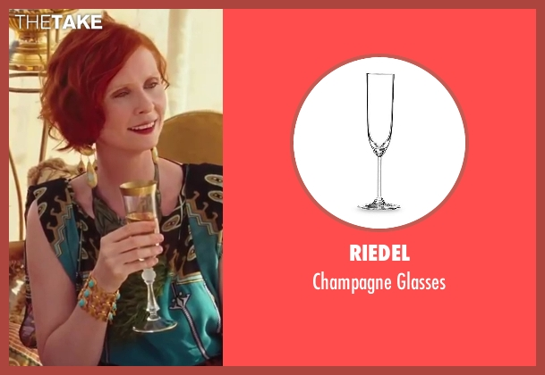 Riedel glasses from Sex and the City 2 seen with Cynthia Nixon (Miranda Hobbes)