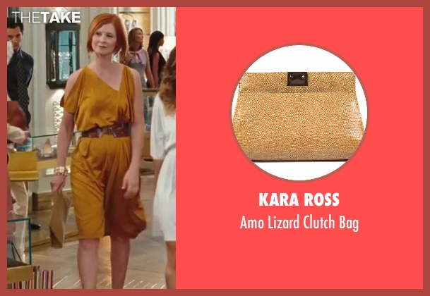 Kara Ross gold bag from Sex and the City 2 seen with Cynthia Nixon (Miranda Hobbes)