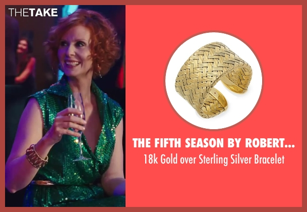 The Fifth Season by Roberto Coin gold bracelet from Sex and the City 2 seen with Cynthia Nixon (Miranda Hobbes)