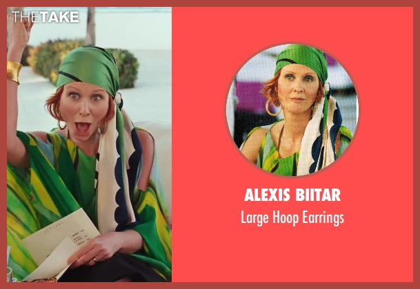 Alexis Biitar gold earrings from Sex and the City 2 seen with Cynthia Nixon (Miranda Hobbes)