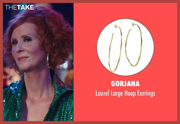 Gorjana gold earrings from Sex and the City 2 seen with Cynthia Nixon (Miranda Hobbes)
