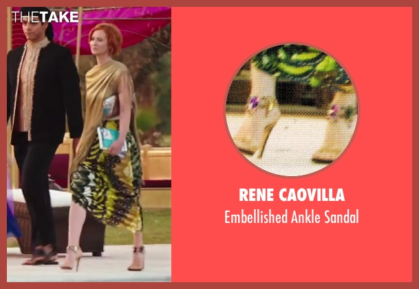 Rene Caovilla gold sandal from Sex and the City 2 seen with Cynthia Nixon (Miranda Hobbes)