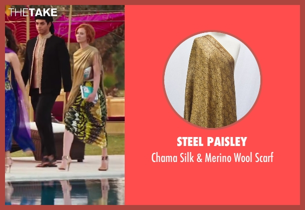 Steel Paisley gold scarf from Sex and the City 2 seen with Cynthia Nixon (Miranda Hobbes)