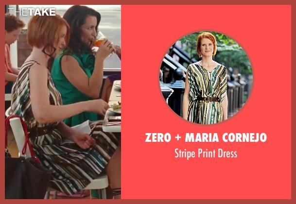 Zero + Maria Cornejo green dress from Sex and the City 2 seen with Cynthia Nixon (Miranda Hobbes)