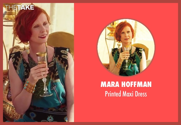 Mara Hoffman green dress from Sex and the City 2 seen with Cynthia Nixon (Miranda Hobbes)