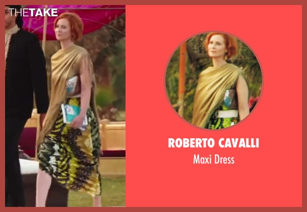 Roberto Cavalli green dress from Sex and the City 2 seen with Cynthia Nixon (Miranda Hobbes)