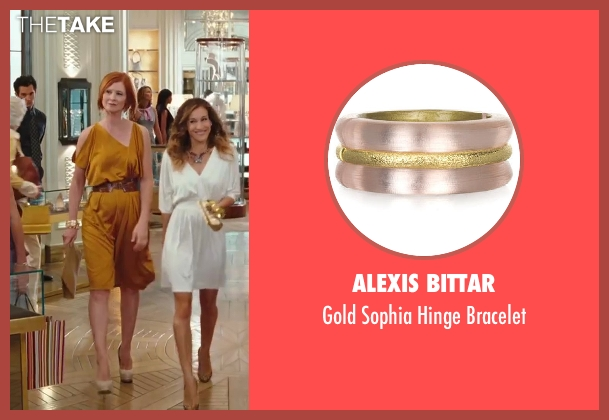 Alexis Bittar pink bracelet from Sex and the City 2 seen with Cynthia Nixon (Miranda Hobbes)