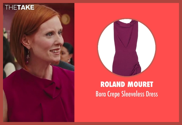 Roland Mouret purple dress from Sex and the City 2 seen with Cynthia Nixon (Miranda Hobbes)