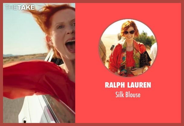Ralph Lauren red blouse from Sex and the City 2 seen with Cynthia Nixon (Miranda Hobbes)