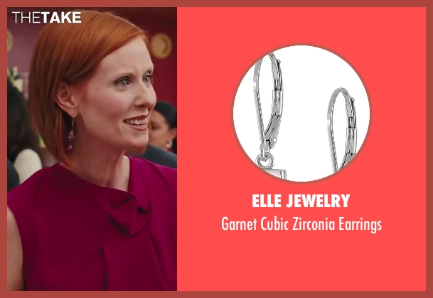 Elle Jewelry red earrings from Sex and the City 2 seen with Cynthia Nixon (Miranda Hobbes)