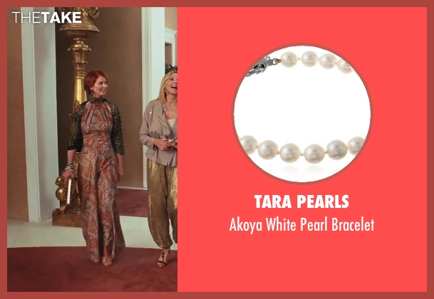 TARA Pearls white bracelet from Sex and the City 2 seen with Cynthia Nixon (Miranda Hobbes)