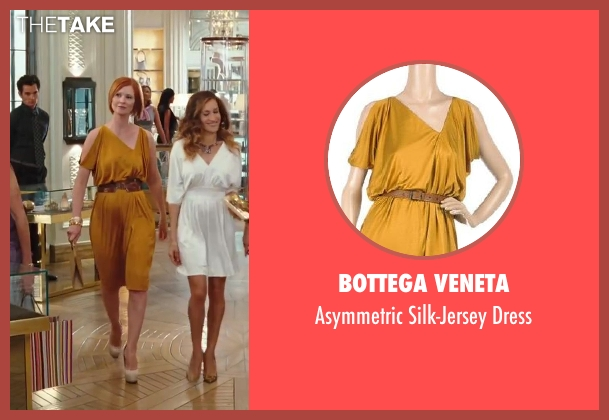 Bottega Veneta yellow dress from Sex and the City 2 seen with Cynthia Nixon (Miranda Hobbes)